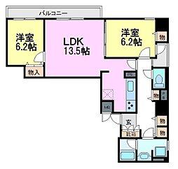 ライオンズマンション尼崎[7階]の間取り