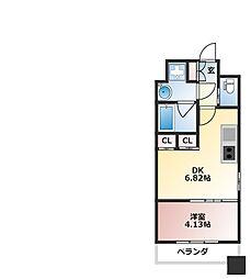 プレジオ西宮[3階]の間取り