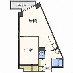 北海道札幌市北区北三十四条西5丁目の賃貸マンションの間取り
