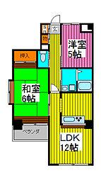田島ビル[203号室]の間取り