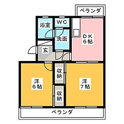 ラフォーレ小石川[2階]の間取り