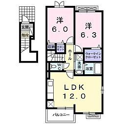 リヴァーサイドフラット I[2階]の間取り