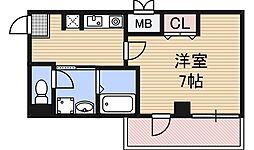 IF西梅田[4階]の間取り