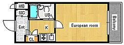 エクシード浜口[1階]の間取り