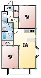 ラ・メゾンK sIII[1階]の間取り