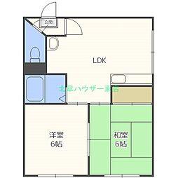北海道札幌市東区北四十条東3丁目の賃貸マンションの間取り