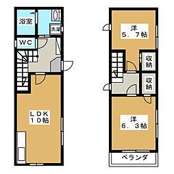 [テラスハウス] 京都府京都市中京区間之町通二条下る鍵屋町 の賃貸【/】の間取り