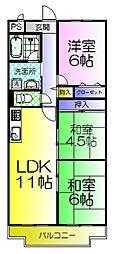 ニューライフ堺[7階]の間取り