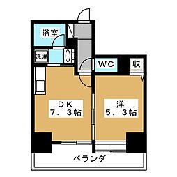 サングランデ 8階1DKの間取り