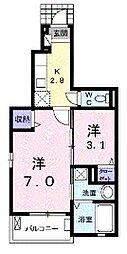 R-グレイa[1階]の間取り