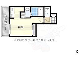福岡市地下鉄空港線 大濠公園駅 徒歩5分の賃貸マンション 4階ワンルームの間取り