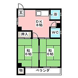 鳥居ビル[2階]の間取り
