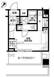 東京都品川区二葉3丁目の賃貸マンションの間取り