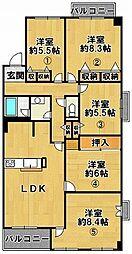 三田カルチャータウン・リフォレE棟 3階ワンルームの間取り