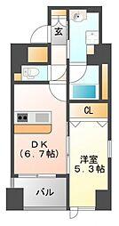 ラ・シャルム江坂公園[1階]の間取り