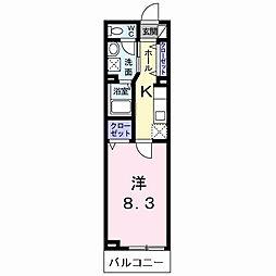 ラフレシール太秦II[2階]の間取り