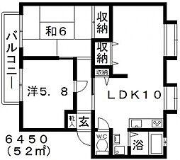 ライゼックス藤ヶ丘[D201号室号室]の間取り