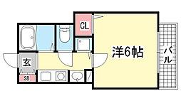プレサンス神戸裁判所前[7階]の間取り