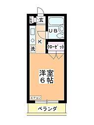 ステーションヴィラ鶴ヶ島[202号室]の間取り