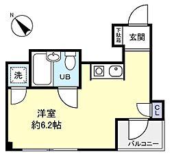 第1アイディール[6階]の間取り