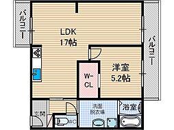 アイマンション[1階]の間取り
