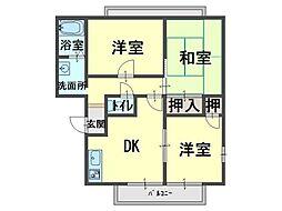 リッチネス阪南A[2階]の間取り