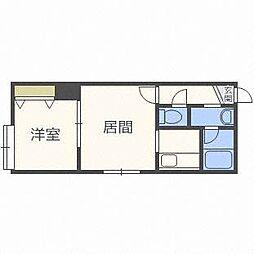 北海道札幌市白石区栄通3丁目の賃貸アパートの間取り