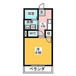 コージーハイツ小塚[1階]の間取り