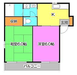 メゾンロータス[2階]の間取り