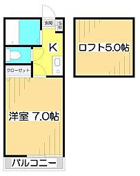 ラ・フォリア鶴瀬[2階]の間取り