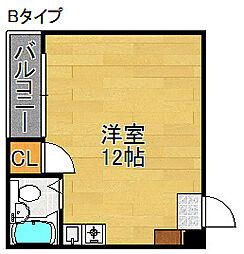 サンフラット[4階]の間取り
