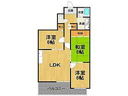 イーリス武庫之荘[4階]の間取り