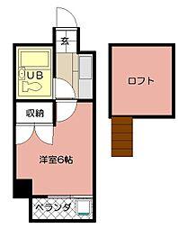 ロイヤルシャトー黒崎[705号室]の間取り