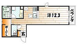 SOLEADO B棟[1階]の間取り