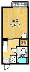 ローズ千里山[102号室]の間取り
