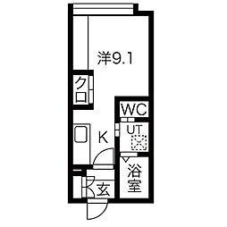 Roi brique[4階]の間取り