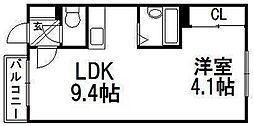 カサデューク澄川82[302号室]の間取り