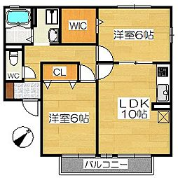 ドムールチヨダ[2階]の間取り