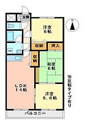 ファミーユ日新[4階]の間取り