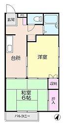 神奈川県横浜市都筑区茅ケ崎南5丁目の賃貸アパートの間取り