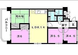 空港中央ビル[601 号室号室]の間取り