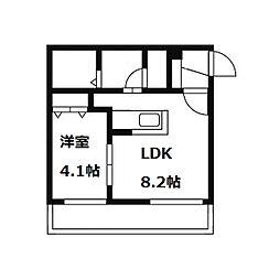 グランドサクセス南円山[4階]の間取り