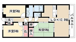 愛知県名古屋市緑区桃山3丁目の賃貸マンションの間取り