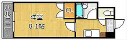 エフズフラッツ古船場[7階]の間取り