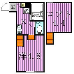 カリーノ フォンターナ2[1階]の間取り