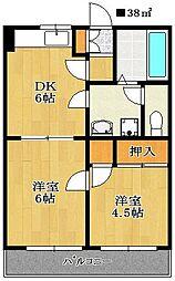 パレ・ドール小川[103号室]の間取り