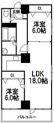 7・8ビル103棟[201号室]の間取り