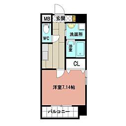 仮称)折尾4丁目賃貸マンション 5階1Kの間取り
