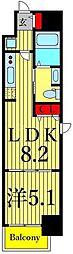 東京メトロ東西線 南砂町駅 徒歩15分の賃貸マンション 4階1LDKの間取り