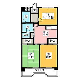 サンシャイン大須中駒ビル[13階]の間取り
